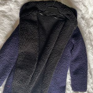 Urban Outfitters full fleece purple and black Coat